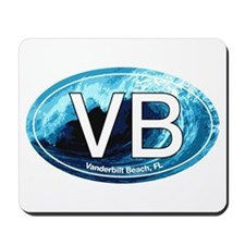 VB Vanderbilt Beach Wave Oval Mousepad