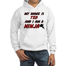 my name is ted and i am a ninja Hoodie