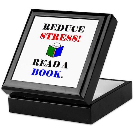 REDUCE STRESS! READ A BOOK. Keepsake Box