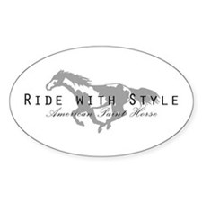 Paint Horse Oval Decal