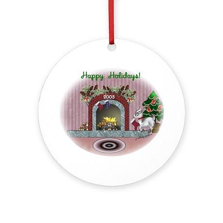 Pygmy Christmas Stocking Ornament (Round)