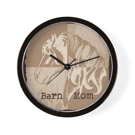 Barn Mom Wall Clock