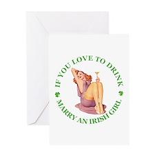MARRY AN IRISH GIRL Greeting Card