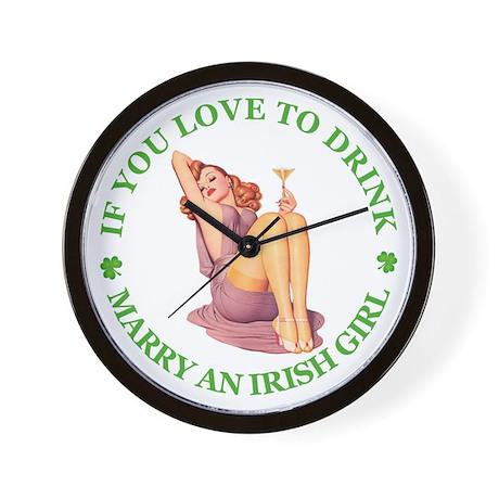 MARRY AN IRISH GIRL Wall Clock
