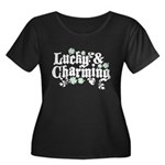 Lucky & Charming Women's Plus Size Scoop Neck Dark