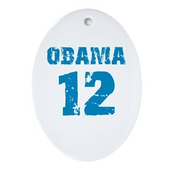 Obama 2012 Oval Ornament