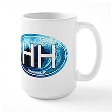 HH Hilton Head, SC Beach Oval Mug