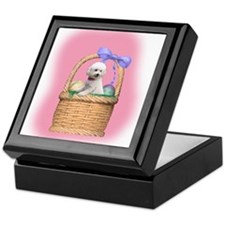 Bichon Basket Keepsake Box