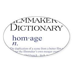 Film Dictionary: Homage Oval Sticker (10 pk)