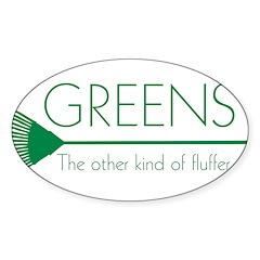 Greens: Fluffers Oval Sticker (50 pk)