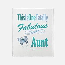 Totally Fabulous Aunt Throw Blanket