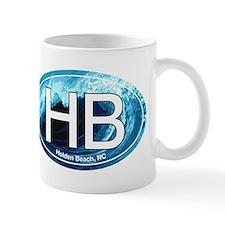 HB Holden Beach Wave Oval Small Mug