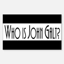 Who is John Galt? Atlas Shrugged Decal