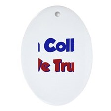 In Colby We Trust Oval Ornament