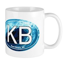 KB Kure Beach, NC Wave Oval Mug
