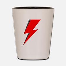 Lightning Bolt red logo Shot Glass