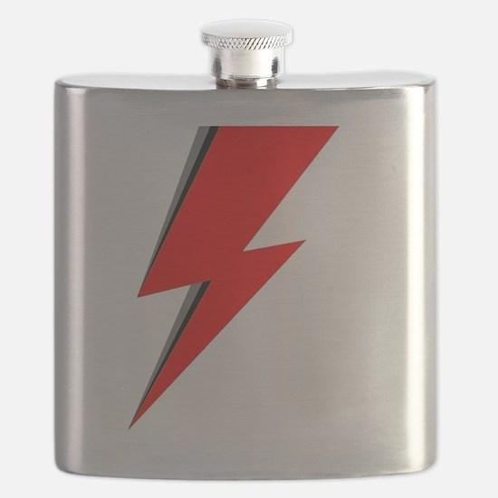 Lightning Bolt red logo Flask