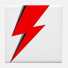 Lightning Bolt red logo Tile Coaster