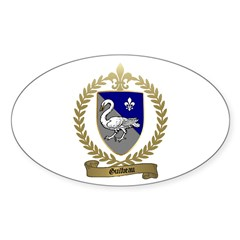 GUILBEAU Family Crest Oval Decal