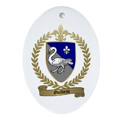 GUILBEAU Family Crest Oval Ornament