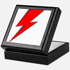 Lightning Bolt red logo Keepsake Box
