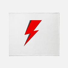Lightning Bolt red logo Throw Blanket