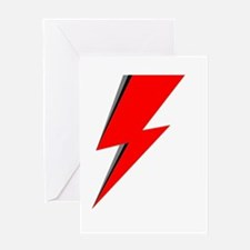Lightning Bolt red logo Greeting Cards