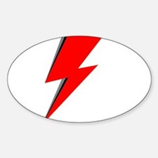 Lightning Bolt red logo Decal