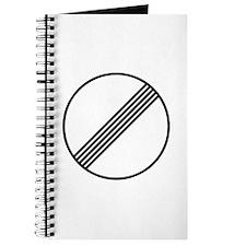 Autobahn No Speed Limit Sign Journal