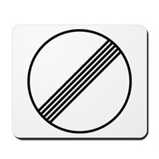 Autobahn No Speed Limit Sign Mousepad