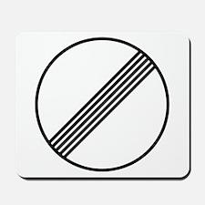 Autobahn No Speed Limit Sign Mousepad