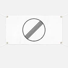 Autobahn No Speed Limit Sign Banner