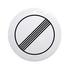 Autobahn No Speed Limit Sign Ornament (Round)