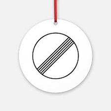 Autobahn No Speed Limit Sign Ornament (Round)
