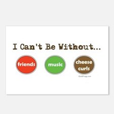 Friends Music Cheese Curls Postcards (8 Pk)