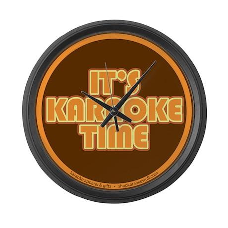 It's Karaoke Time Large Wall Clock