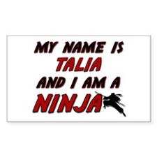 my name is talia and i am a ninja Decal