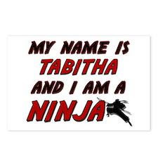 my name is tabitha and i am a ninja Postcards (Pac