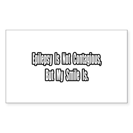 """""""Epilepsy and Smiles"""" Rectangle Sticker"""