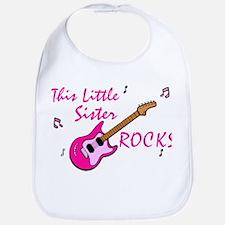This Little Sister Rocks Bib