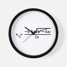 quadratic formula Wall Clock