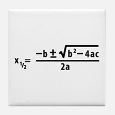 quadratic formula Tile Coaster