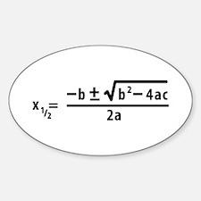quadratic formula Oval Decal