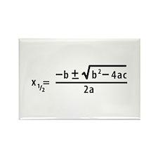 quadratic formula Rectangle Magnet