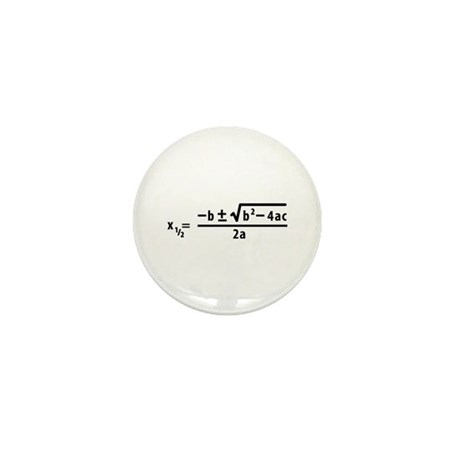 quadratic formula Mini Button (10 pack)