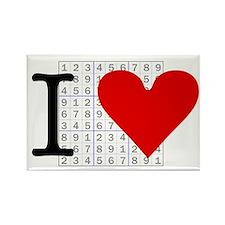 I heart Sudoku Rectangle Magnet