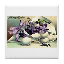 """""""A Happy Easter"""" Tile Coaster"""