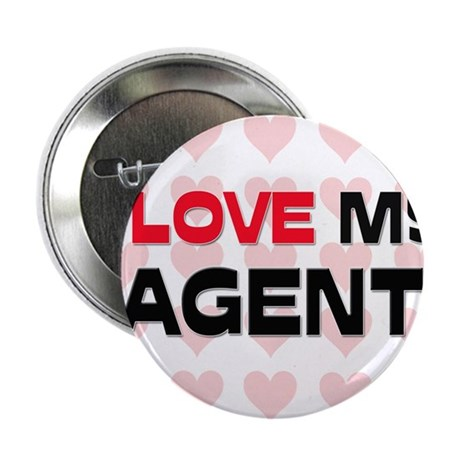"""I Love My Agent 2.25"""" Button (10 pack)"""
