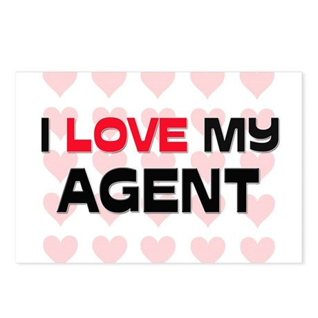 I Love My Agent Postcards (Package of 8)