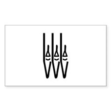organ pipes Rectangle Decal